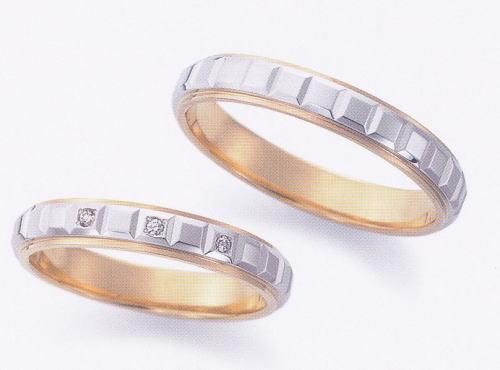★お買い得特別価格!!★EBP-14L & EBP-14MEnbrasser Purest(アンブラッセ ピュアレスト 純プラチナ Pt-999)& 純金 (K24-999)マリッジリング、結婚指輪、ペアリング用(2本)
