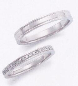★お買い得特別価格!!★EBP-17M & EBP-17L(ダイヤ付)Enbrasser Purest(アンブラッセ ピュアレスト 純プラチナ Pt-999)マリッジリング、結婚指輪、ペアリング用(2本)