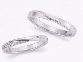 ★お買い得特別価格!!★EBP-18L(ダイヤ付) & EBP-18MEnbrasser Purest(アンブラッセ ピュアレスト 純プラチナ Pt-999)マリッジリング、結婚指輪、ペアリング用(2本)