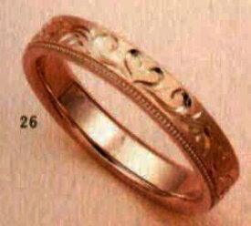 ★【卸直営店のお得な特別割引価格★Angerosa(アンジェローザ)(26)AR-817ハート(Uni)K18PG マリッジリング、結婚指輪、ペアリング用(1本)