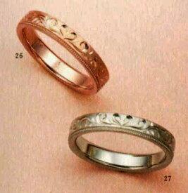 ★【卸直営店のお得な特別割引価格★Angerosa(アンジェローザ)(26)AR-817ハート(Uni)K18PG&(27)AR-818ハート(Uni)K18WG(2本セット) マリッジリング、結婚指輪、ペアリング