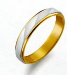 True Love トゥルーラブ (41) M150 卸直営店 お得な特別割引価格 Pt900 プラチナ & K18YG イエローゴールド マリッジリング 結婚指輪 ペアリング (1本)