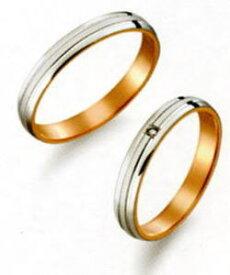 True Love トゥルーラブ (29) M371 & (30) M371D ダイヤ =2本セット 卸直営店お得な特別割引価格 Pt900 プラチナ & K18PG ピンクゴールド マリッジリング 結婚指輪 ペアリング