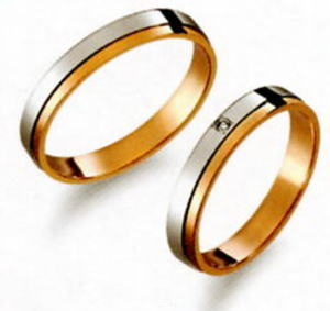 True Love トゥルーラブ (27) M370 & (28) M370D ダイヤ =2本セット 卸直営店 お得な特別割引価格 Pt900 プラチナ & K18PG ピンクゴールド マリッジリング 結婚指輪 ペアリング