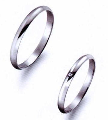True Love トゥルーラブ (11) P354 & (12) P354D ダイヤ =2本セット 卸直営店 お得な特別割引価格 Pt900 プラチナ マリッジリング 結婚指輪 ペアリング