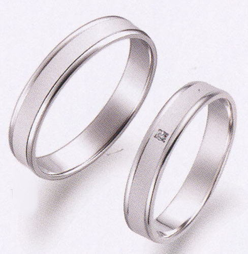 True Love トゥルーラブ (13) P098-2 & (14) P098D-2 ダイヤ = 2本セット 卸直営 店お得な特別割引価格 Pt900 プラチナ マリッジリング 結婚指輪 ペアリング