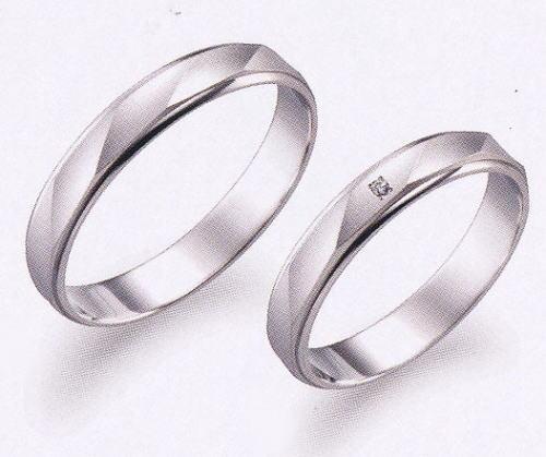 True Love トゥルーラブ (17) P530-2 & (18) P530D-2 ダイヤ = 2本セット 卸直営店 お得な特別割引価格 Pt900 プラチナ マリッジリング 結婚指輪 ペアリング