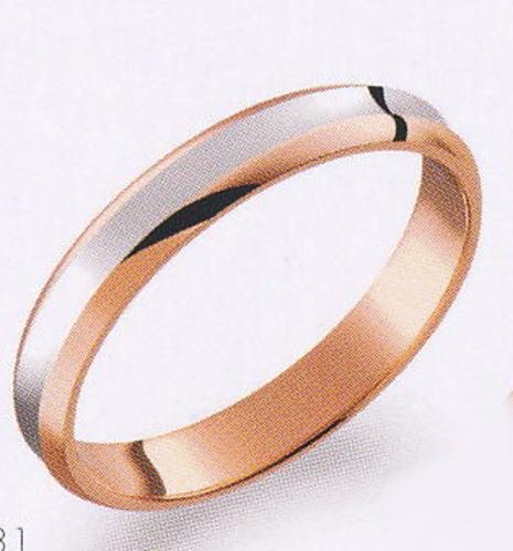 True Love トゥルーラブ (31) M374 卸直営店 お得な特別割引価格 Pt900 プラチナ & K18PG ピンクゴールド マリッジリング 結婚指輪 ペアリング(1本)