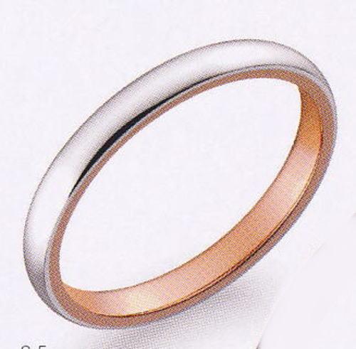 True Love トゥルーラブ (35) M376 卸直営店 お得な特別割引価格 Pt900 プラチナ & K18PG ピンクゴールド マリッジリング 結婚指輪 ペアリング(1本)