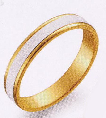 True Love トゥルーラブ (39) M097 卸直営店 お得な特別割引価格 Pt900 プラチナ & K18YG イエローゴールド マリッジリング 結婚指輪 ペアリング(1本)