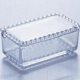 石塚硝子 ISHIZUKA GLASS アデリアグラス ADERIA GLASS ガラス製 バターケース バター入れ F70604