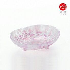 石塚硝子 ISHIZUKA GLASS アデリアグラス ADERIA GLASS 津軽びいどろ さくらさくら sakura三つ足豆皿 F79441 桜 小皿
