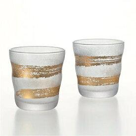 石塚硝子 ISHIZUKA GLASS アデリアグラス ADERIA GLASS プレミアム金一文字ロックグラスペアセット S6281 335ml