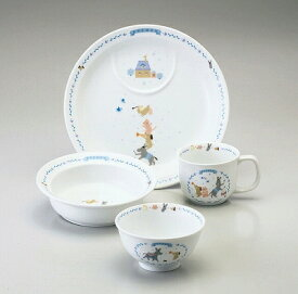 NARUMI ナルミブレーメン 幼児セット(ブルー) 7980-33139 子供食器 プレート ポリッジボウル マグカップ 飯茶碗