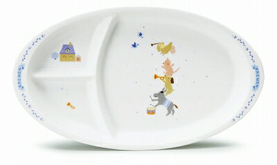 NARUMI ナルミ ブレーメン キッズプレート(ブルー) 28cm 7980-5554 子供食器 大皿