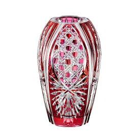 KAGAMI CRYSTAL カガミクリスタル 江戸切子 花瓶(笹っ葉に八角籠目紋) 20cm F299-2674CAU 花器 フラワーベース