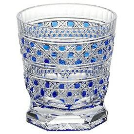 KAGAMI CRYSTAL カガミクリスタル 江戸切子 冷酒杯 八角籠目紋(青) 100cc T3253-2306CCB 盃
