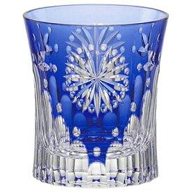 KAGAMI CRYSTAL カガミクリスタル 江戸切子 冷酒杯 花火 青(伝統工芸士 鍋谷淳一) 100cc T489-2652CCB 盃