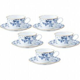 Noritake ノリタケ BLUE SORRENTINO ブルーソレンティーノ ティー・コーヒー碗皿セット(5客) F59387A/4562 ティーカップ コーヒーカップ