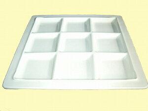 若泉漆器 耐熱プレート 9ツ仕切り白(裏白塗) 耐熱ABS樹脂 M-017-62 大皿【あす楽対応】