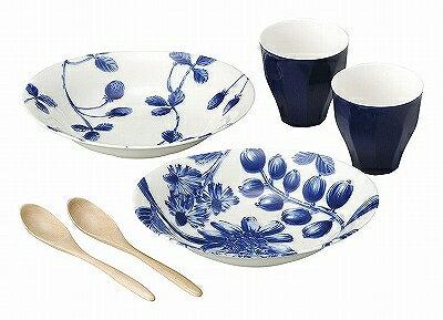 【ポイント2倍中!】ボタニカル botanical ペアカレー 288784 カレー皿 大皿 フリーカップ スプーン