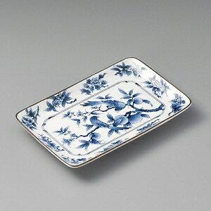 桃鳥長角焼物皿 24309-410