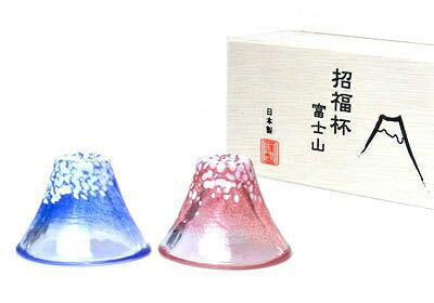【エントリーでポイント5倍中!】東洋佐々木ガラス 富士山 冷酒杯揃え(青・赤) ペアセット G635-T72 杯 盃 35ml