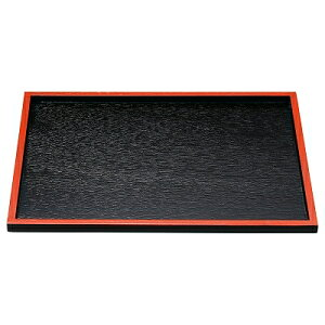 木 木製目はじき切立盆 黒天朱 尺4寸 1101369