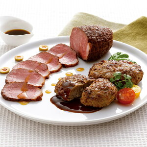 北海道産牛ローストビーフ&ハンバーグセット B 【送料無料】 / 冷凍 お取り寄せ お土産 ギフト 寒中見舞い /