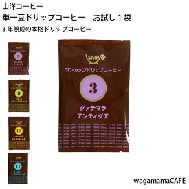 コーヒー ドリップ 単一豆 お試し 3年熟成コーヒー 【山洋コーヒー】