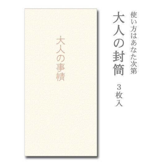 大人の封筒 大人の事情 3枚入【ぽち袋/ポチ袋 大】【お年玉袋/正月】