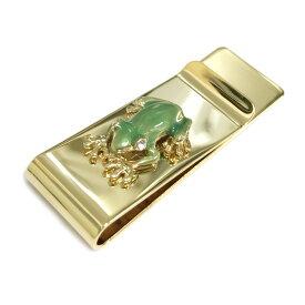 マネークリップ 財布 カード カエル ユニーク おもしろ 雑貨 グッズ ゴールド ギフト プチギフト プレゼント 蛙 かえる スワロフスキー 真鍮製 真鍮 おしゃれ ブランド