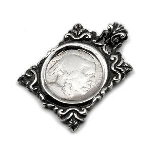 5セント コイン シルバー シルバー925 ネックレス 硬貨 フレーム 額縁 ペンダント チャーム レディース メンズ ギフト プチギフト プレゼント おしゃれ ブランド SOLID DESIGN