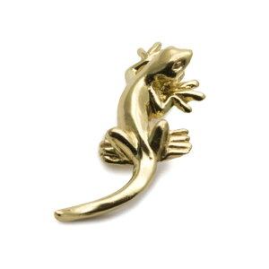 トカゲ リザード ブローチ タックピン ピンバッジ 爬虫類 真鍮 メンズ レディース ユニーク おもしろ ギフト プチギフト プレゼント おしゃれ ブランド SOLID DESIGN