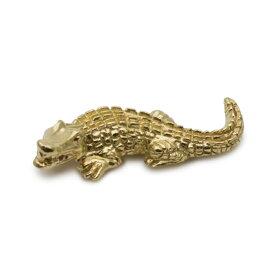 ワニ クロコダイル アリゲーター ブローチ タックピン ピンバッジ 爬虫類 真鍮 メンズ レディース ユニーク おもしろ ギフト プチギフト プレゼント おしゃれ ブランド SOLID DESIGN