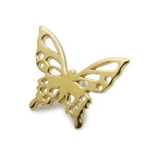 蝶々 蝶 チョウ バタフライ チョウチョ ブローチ タックピン ピンバッジ 真鍮 メンズ レディース ユニーク おもしろ ギフト プチギフト プレゼント おしゃれ ブランド SOLID DESIGN