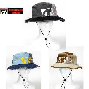 パンディエスタ PANDIESTA【551351】刺繍切替アドベンチャーハット 和柄刺繍帽子 和柄キャップ 和柄帽子 パンダ サーフハット