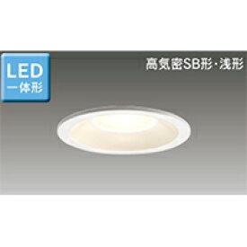 東芝 LED照明器具 LED浴室灯/軒下用 LEDダウンライト 高気密SB形 白熱灯器具60Wクラス LED一体形 埋込穴Φ100 電球色 一般住宅用 防湿・防雨形 LEDD87040L(W)-LS