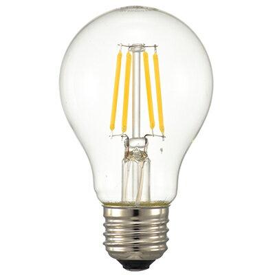◎オーム電機 LED電球 LEDフィラメントタイプ電球 一般電球形 クリアタイプ 調光器対応 一般球40形相当(40W形相当) 電球色 3.8W 全光束494lm E26口金 全方向タイプ LDA4L/D C6(06-3482) ≪あす楽対応商品≫
