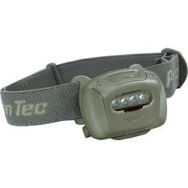 PrincetonTec LEDヘッドライト QUADタクティカル(QUAD TACTICAL) IPX7 78lm 本体OD(オリーブドラブ) QUAD-TAC-OD