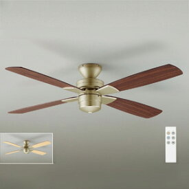 ◎DAIKO シーリングファン 簡易取付式 (リモコンスイッチ付) 本体シルバー 正転逆転切替 風量3段切替機能付 AS-563E