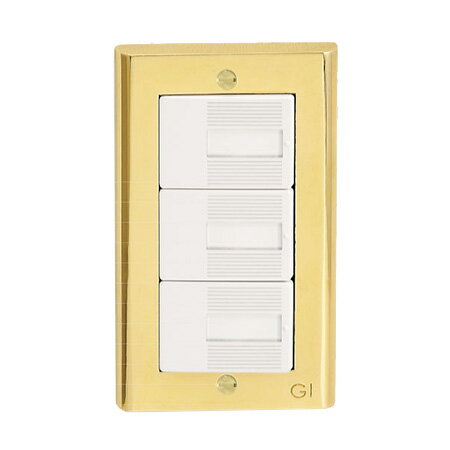 ◎ゴーリキアイランド 真鍮製スイッチプレート コスモシリーズワイド21用 1連用 真鍮PVD仕上げ(ゴールド) スイッチプレート PC PVD ≪あす楽対応商品≫