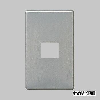 ◎パナソニック フルカラー配線器具 新金属2型プレート 標準プレート 1連用 1コ用 WN65019