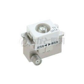 パナソニック アドバンスシリーズ配線器具 埋込高シールドテレビターミナル 1端子タイプ(フィルタ付) F型接栓同梱(1個) 10〜2602MHz対応 セラミックホワイト WCS3640CWK
