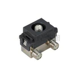 パナソニック フルカラー配線器具 埋込高シールドテレビコンセント(送り配線用) 1端子タイプ 電流通過形 F型接栓同梱(2個) 10〜2602MHz対応 グレー WCS4881HK