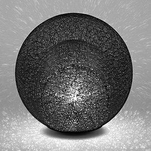 yamagiwa MAYUHANA MA BLACK テーブルスタンド E26口金 クリアボールランプ φ95 60W×1灯用 (ランプ付) 中間スイッチ付 321S7400B