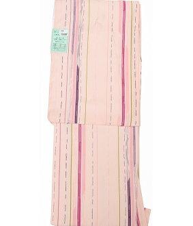 Cloth for 7800 washable kimono newly made crepe プレタ washable geometry race stripe stripe pink appk980(1)