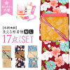 Washable brand kimono washable kimono + washable Nagoya style sash + obi bustle + obi cord + sandals + dressing accessory 12 points lined kimono kimono pattern stripe spring and summer winter clothes thing cherry blossom Schick retro dressing classroom e