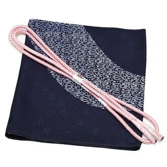 Close 8800 base design obi bustle + fashion zone; Class obi bustle-maru flat group obi cord set dyed cloth without a pattern fine pattern pongee oz-set3218