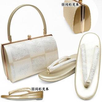 25600 sandals bag sets bag kimono bag set four circle 礼装留袖成人式結婚式訪問着附下 げ long-sleeved kimono entrance ceremony graduation ceremony gold bag-rei393 bagset402-f(0) in Japanese dress